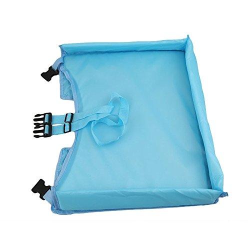Tablero Impermeable del Coche,GZQES Bandeja Mesa para ni/ños en la Asiento de Coche,Juguetes de los Ni/ños Sostenedor Infantil del Cochecito para los Ni/ños,Color Azul