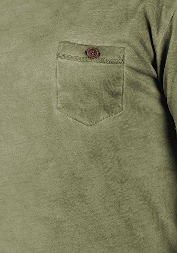 Con Básica Teil Corta T Para Redondo Algodón Hombre Manga Aloe shirt 100 3612 De Cuello Camiseta solid vfqwEEB