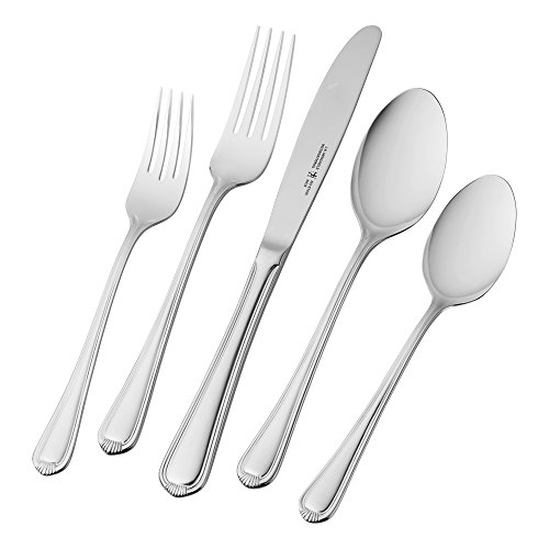 ATIONAL 65-Piece Alcea Flatware Set (Henckels Stainless Steel Spoon)