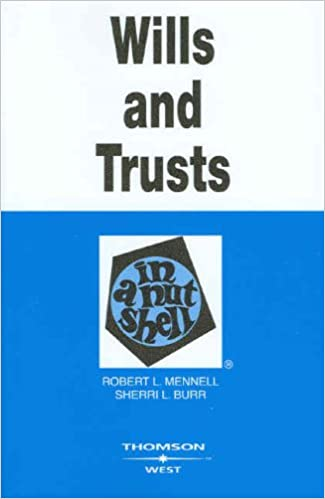 Google livres télécharger le format epub Wills and Trusts in a Nutshell (Nutshell Series) PDF ePub iBook by Robert L. Mennell