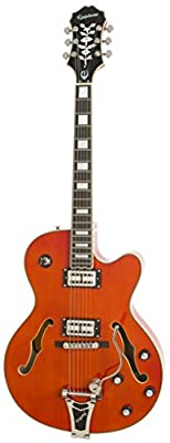 Epiphone EMPEROR SWINGSTER Hollow Body Electric Guitar with Bigsbby Tremelo and pickup switching, Orange