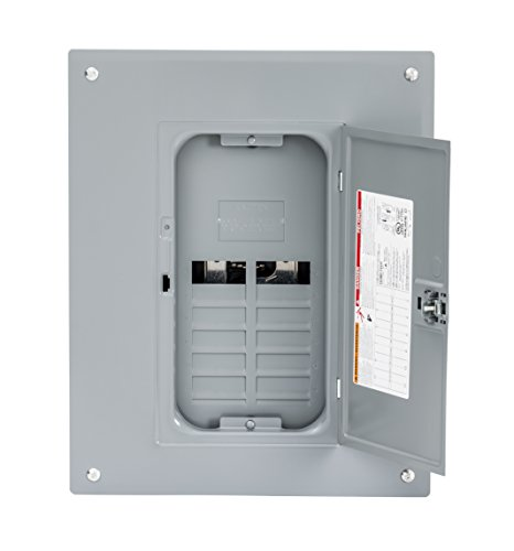 Square D by Schneider Electric HOM816L125PC Homeline 125 Amp 8-Space 16-Circuit Indoor Main Lugs Load Center with Cover (Plug-on Neutral Ready)