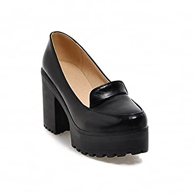 Amazon.com | Show Shine Women&39s Fashion Platform High Chunky Heel