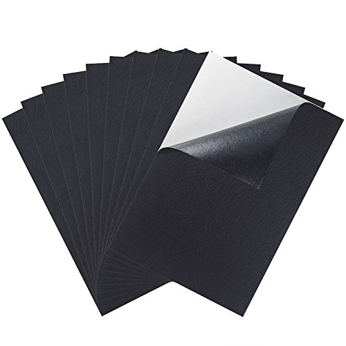 Caydo 10 Pieces Black Adhesive Back Felt Sheets Fabric Sticky Back Sheets, 8.3 by 11.8