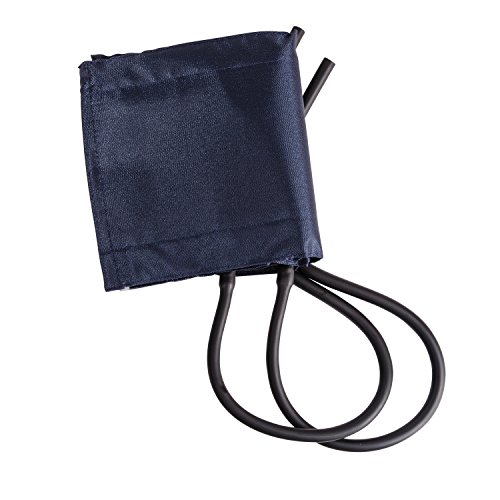 MABIS Sphygmomanometer Blood Pressure Replacement Cuff and Two-Tube Bladder, Adult Size, Blue by Mabis