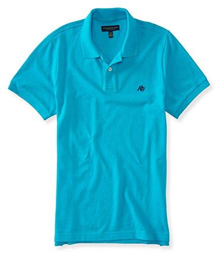 Aeropostale Mens A87 Rugby Polo Shirt, Blue, ()