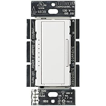 Lutron Maestro C.L Dimmer Switch for Dimmable LED, Halogen and Incandescent Bulbs, Single-Pole or Multi-Location, MACL-153M-WH, White
