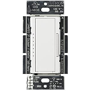 Lutron Maestro LED+ Dimmer for Dimmable LED, Halogen and Incandesent Bulbs   Single-Pole or Multi-Location   MACL-153M-WH   White