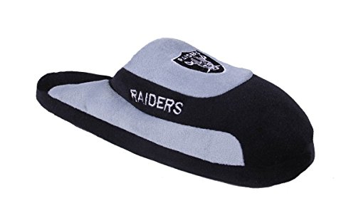 Happy Feet Comfy Feet - Officially Licensed Mens and Womens NFL Low Pro Slippers Oakland Raiders Low Pro