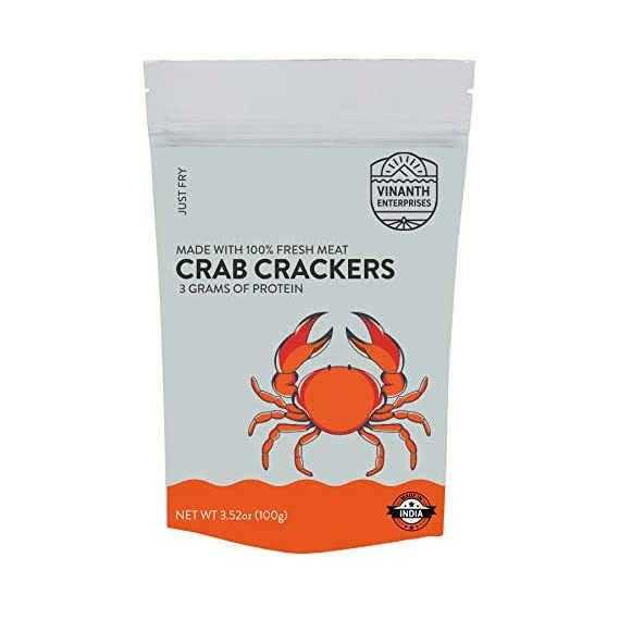 Vinanth enterprises Crab Crackers (100g)