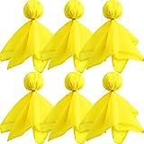Gejoy - Banderas de fútbol (6 Unidades), Color Amarillo