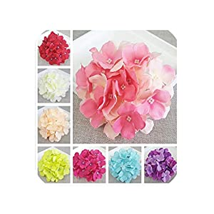 biu-biu artificial-flowers 1PC Fake Flower Hydrangea Heads Bouquet Christmas Wedding Arrangement Home Decoration 13