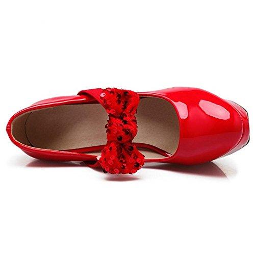 Tacon de con para Alto Red Plataforma Mujer Zapatos Coolcept xOAEzwax