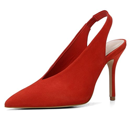 tobillo Zapatos de correa Mujer Kolnoo Rojo con wOUBWR