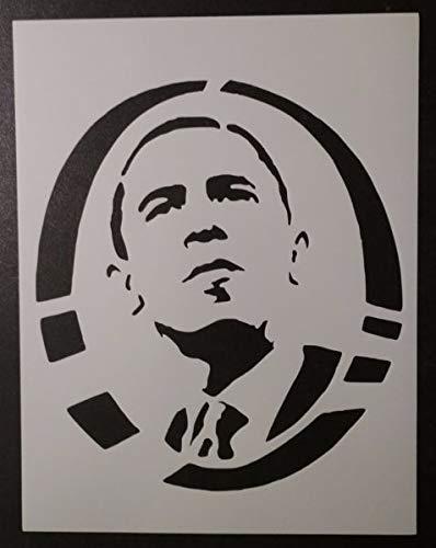 Custom Stencil Barack Obama O President 8.5 x 11 Fast