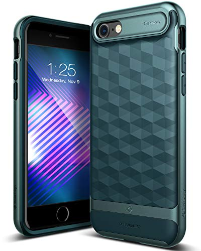 Caseology [Parallax Series] iPhone 8 / iPhone 7 Case - [Award Winning Design] - Black/Deep Blue