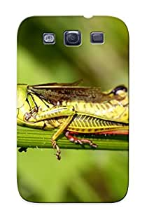 Crazinesswith Durable Defender Case For Galaxy S3 Tpu Cover(grasshopper) Best Gift Choice
