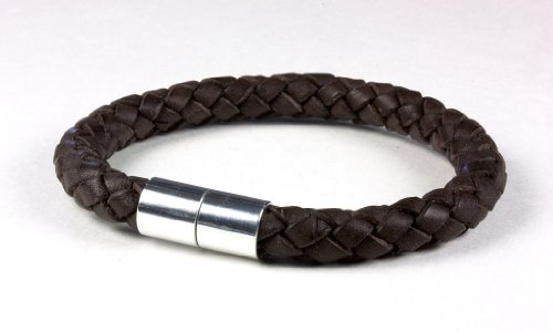 Suki PRO Braided Leather Magnet Therapy Bracelet – 8mm (5/16″) Dark Brown, Extra Large with Magnetic Clasp, Outdoor Stuffs