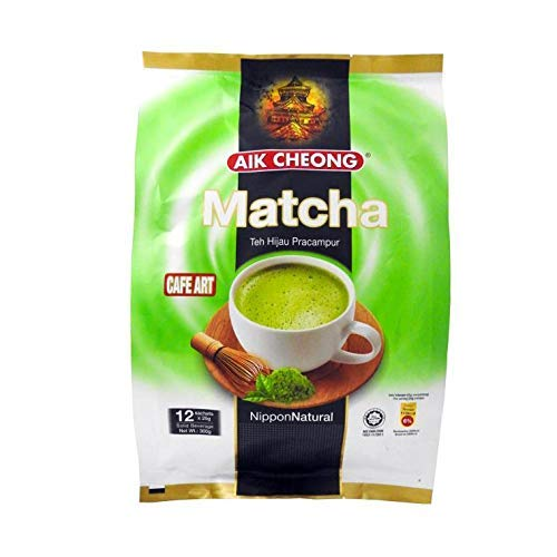 5 Pack Aik Cheong Cafe Art Matcha Premix Green Tea Nippon Natural Imported from Malaysia (5 x 12 sachets) Free Express Shipping