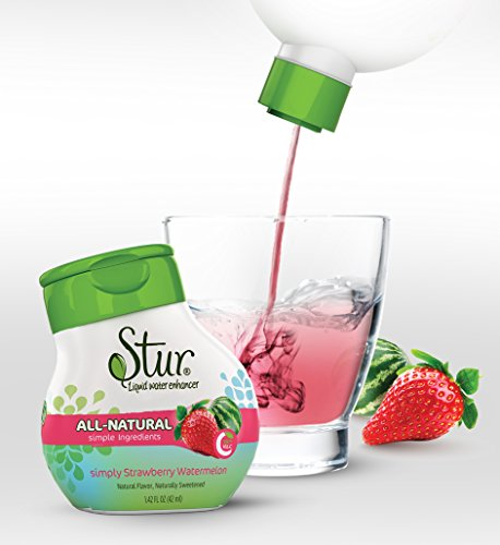 Stur - Natural Water Enhancer, Stawberry Watermelon (5 Bottles, Makes 100 Flavored Waters) - Sugar Free, Zero Calories, Kosher, Keto Friendly Liquid Drink Mix Sweetened with Stevia