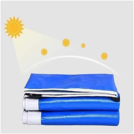 FQJYNLY 防水シート防塵および防雨布アウトドアキャンプ多機能、17サイズ (Color : Blue, Size : 5.7x9.7m)