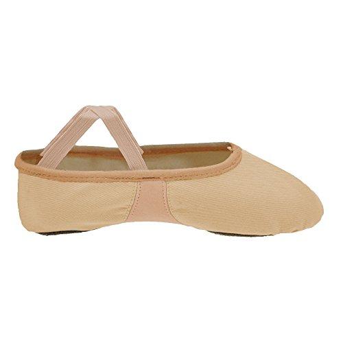 Starlite Flexi zapatos de ballet de lona, Split Sole Rosa