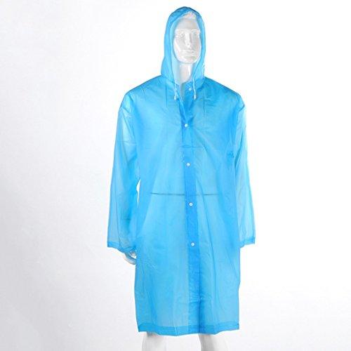 couleur Transparent Mode Raincoat Imperméable Matière Bleu Grasse Violet Adulte Épaisseur SWwYYqg07