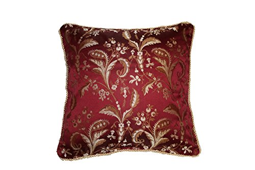 Violet Linen Luxury Damask Decorative Cushion Cover, 18