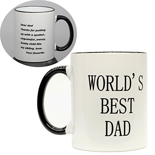 Funny Gift Worlds Best Dad   11 Oz Coffee Mugs  Gifts For Father Birthday Or Christmas Black Edge