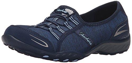 Skechers Sport Women's Breathe Easy Good Life Walking Shoe, Navy/Light Blue, 8.5 M US by Skechers