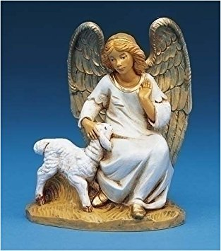 Fontanini Olivia Angel W/Lamb * Nativity Village Collectible 52520