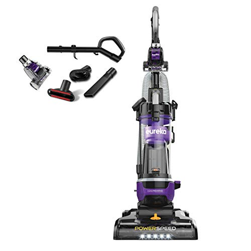 Upright Cord Rewind Vacuum Cleaners - Eureka NEU202 PowerSpeed Lightweight Bagless Upright Vacuum Cleaner with Automatic Cord Rewind and 4 On-Board Tools, Purple
