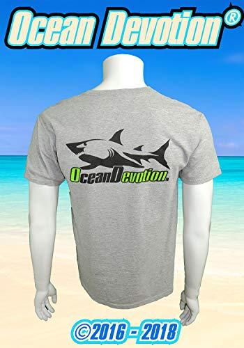 Shark V3 - Ocean Devotion - Heather Grey- M Men's T-Shirt - Keywords. Sea Life, Surf Life, Surfing, Fishing, Guy Harvey, Salt Life, Reel Life, Beach Life, Paddle Boarding, Scuba Diving, Offshore