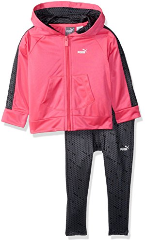 PUMA Baby Girls Track Jacket and Legging Set, Knock Out Pink, 12M