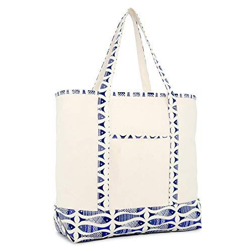 Fish Tote Bag - DALIX 22