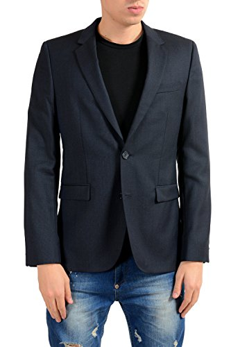 Hugo Boss Astian Men's 100% Wool Two Button Blazer Sport Coat US 38R IT ()