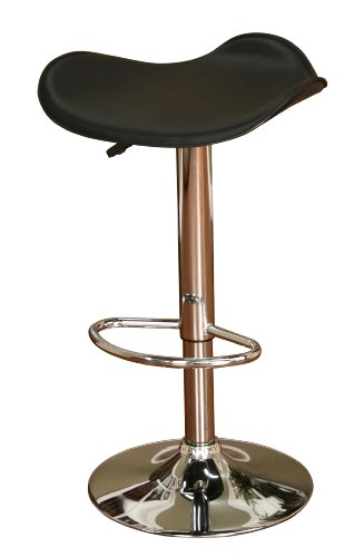 American Heritage Billiards Sloan Adjustable Height Stool with Black Seat