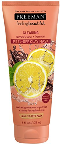 Freeman Facial Mask Sweet Tea & Lemon Peel Away 6 oz. Oil Absorbing Clay