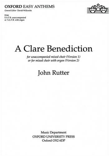 A Clare Benediction (Oxford easy anthems)