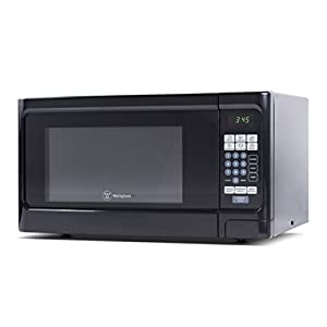 Westinghouse, WCM11100B, Countertop Microwave Oven, 1000 Watt, 1.1 Cubic Feet, Black Front, Black Cabinet, Small