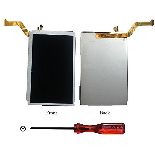 Rinbers® OEM Replacement Top Upper LCD Screen Display for New Nintendo 3DS N3DS XL LL with Y Tool