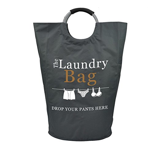The Fine Living Company USA - Drop Your Pants Here Laundry Hamper - Premium Quality Bag with Aluminium Handles, Large 81L - 15% Bigger Than Other Bags by The Fine Living Company (Image #1)