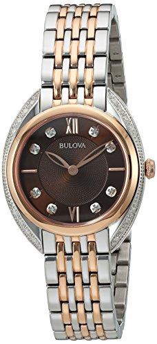 Bulova Women's Quartz Stainless Steel Dress Watch, Color:Two Tone (Model: 98R230)
