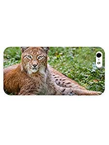 3d Full Wrap Case for iPhone 5/5s Animal Bobcat