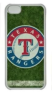 iPhone 5C Case, Texas Rangers Case for iPhone 5C PC Material Transparent