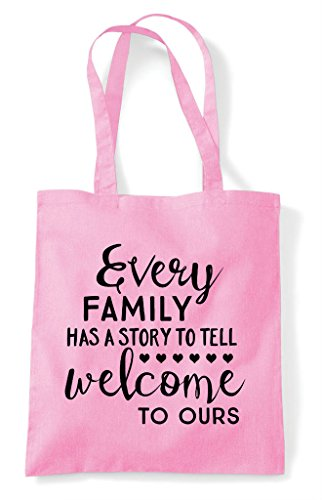 Bag Pink Shopper Has Family Light Statement Tote Welcome A To Ours Story Tell Every avgOqRww