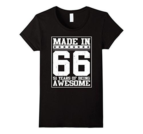 womens-birthday-gift-for-51-years-old-1966-tee-shirt-medium-black