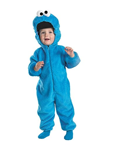 Cookie Monster Deluxe Two-Sided Plush Jumpsuit Costume -