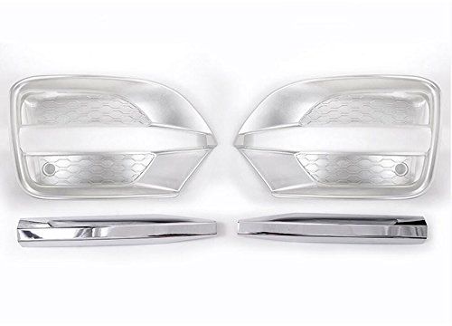 Herben For Jaguar F-Pace f pace X761 Car-Styling ABS Chrome Front Fog Lamp Frame Cover Trim Accessories Set of 4pcs by Herben