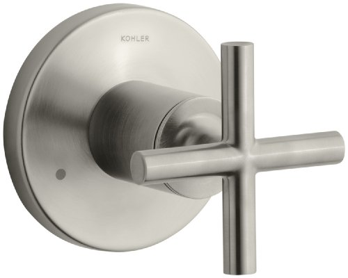 Diverter Valve Trim Cross - KOHLER K-T14491-3-BN Purist Transfer Valve Trim, Vibrant Brushed Nickel